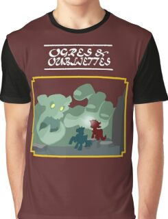 Ogres and Oubliettes - white text Graphic T-Shirt