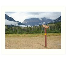 Signpost to the beyond  Art Print