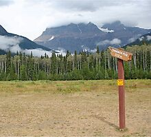 Signpost to the beyond, Mt Robson by Funkylikeabee