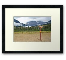 Signpost to the beyond, Mt Robson Framed Print