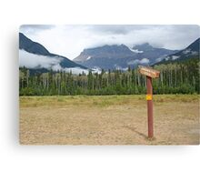 Signpost to the beyond, Mt Robson Canvas Print