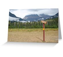 Signpost to the beyond, Mt Robson Greeting Card