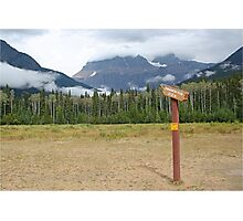Signpost to the beyond, Mt Robson Photographic Print