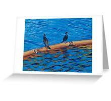 resting cormorants Greeting Card
