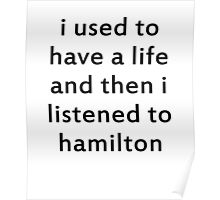 Hamilton Trash black Poster