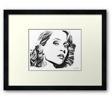 Gillian Anderson- Fault photoshoot Framed Print