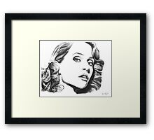 Gillian Anderson- Fault photoshoot Framed Print