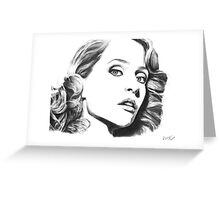 Gillian Anderson- Fault photoshoot Greeting Card