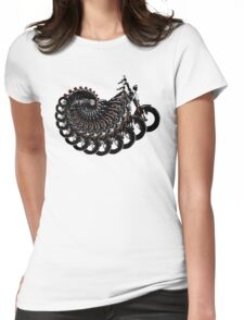 harley spiral Womens Fitted T-Shirt