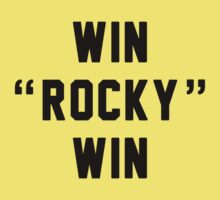 Win Rocky Win Black Edition Kids Clothes