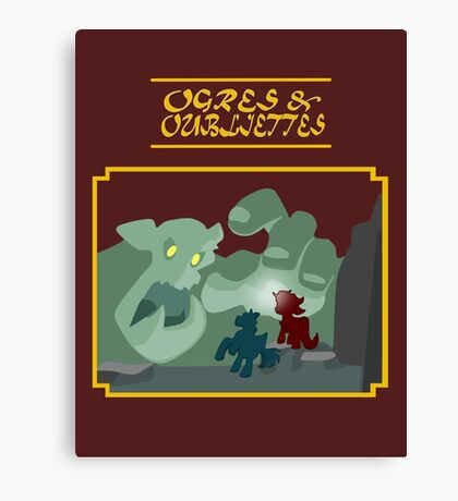 Ogres and Oubliettes - gold text Canvas Print