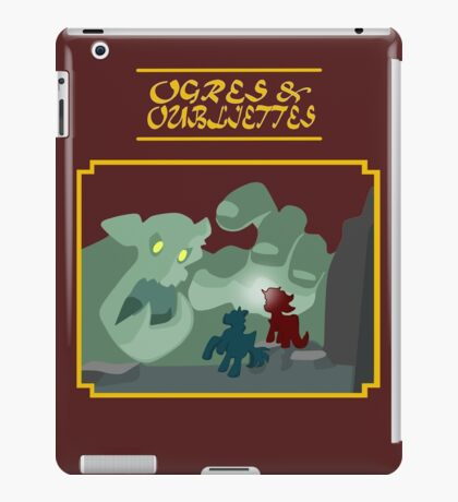 Ogres and Oubliettes - gold text iPad Case/Skin