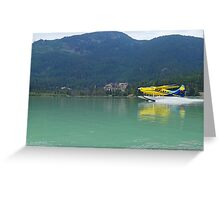 Sea plane water skiing at Green Lake Greeting Card
