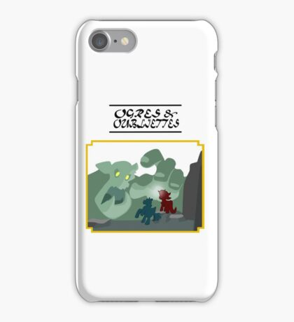 Ogres and Oubliettes - black text iPhone Case/Skin