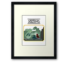 Ogres and Oubliettes - black text Framed Print