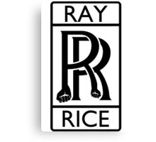 Ray Rice - Rolls Royce parody Canvas Print