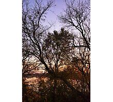 Rising Crescent in Autumn  Photographic Print