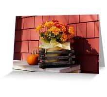 Autumn Flower Bench  Greeting Card