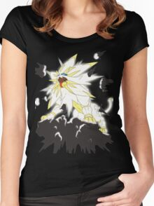 Pokemon Moon and Sun- Solgaleo Women's Fitted Scoop T-Shirt