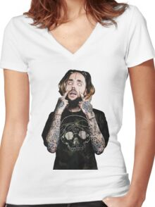 scrim Women's Fitted V-Neck T-Shirt