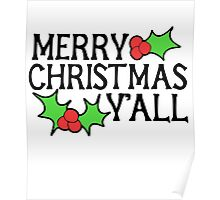 Merry Christmas Y'all Poster