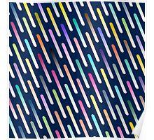 Abstract cosmic rain Poster