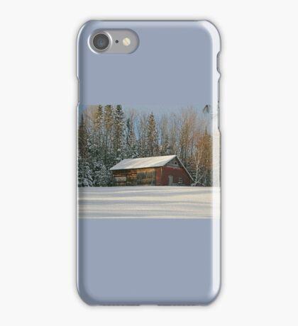 Old Barn Winter Snow Scene iPhone Case/Skin