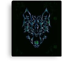 Tribal Wolf Design Canvas Print