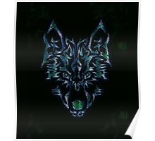 Tribal Wolf Design Poster