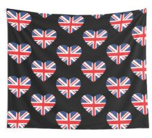 British Flag Heart Wall Tapestry