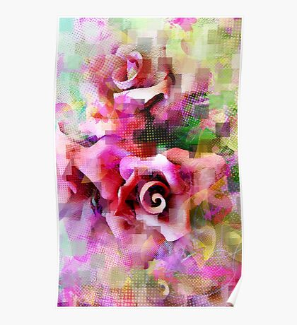 A Rose is A Rose - #giftoriginal, #redbubble Poster