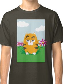 Cat in the Flowers Classic T-Shirt