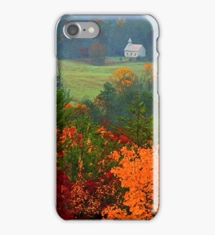 CHURCH IN FOG,AUTUMN iPhone Case/Skin