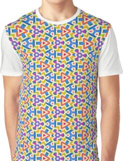 Colorful Energized Geometric Graphic T-Shirt