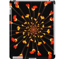 Red flower pattern on Japanese paper for background iPad Case/Skin
