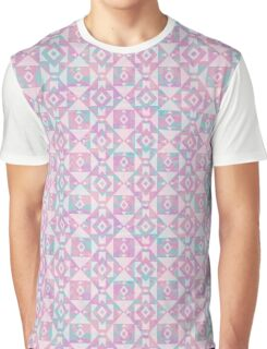 Pink Marbled Aztec Geometric Graphic T-Shirt
