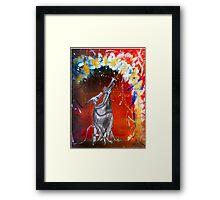 Trumpet Dino Framed Print