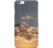Evening sun rays iPhone Case/Skin