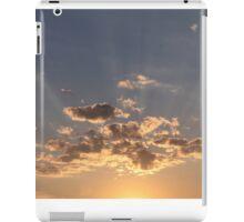Evening sun rays iPad Case/Skin