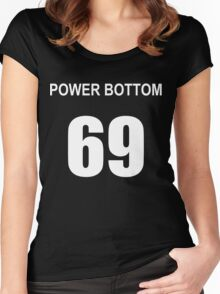 POWER BOTTOM 69 Women's Fitted Scoop T-Shirt