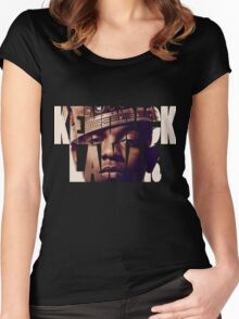 "Kendrick Lamar ""King"" Design Women's Fitted Scoop T-Shirt"