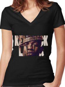 "Kendrick Lamar ""King"" Design Women's Fitted V-Neck T-Shirt"