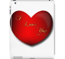 Heart I Love You Art iPad Case/Skin