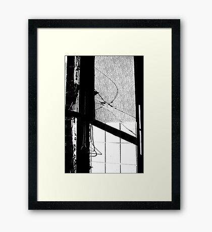 mill window Framed Print
