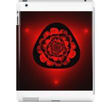 unusual red flower on black background iPad Case/Skin