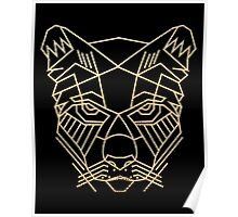 panther head geometric Poster