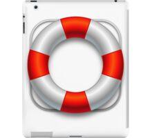 A red vector lifesaver belt iPad Case/Skin