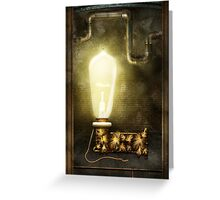 Steampunk - Alphabet - L is for Light Bulb Greeting Card