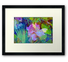 Squiggly jiggly flower print Framed Print