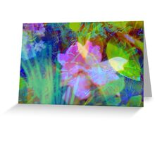 Squiggly jiggly flower print Greeting Card